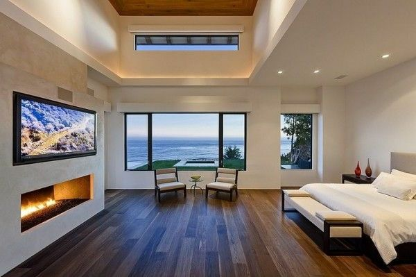 Traumhafte Schlafzimmergestaltung mit herrlicher Aussicht -   - schlafzimmer mit ausblick ideen bilder