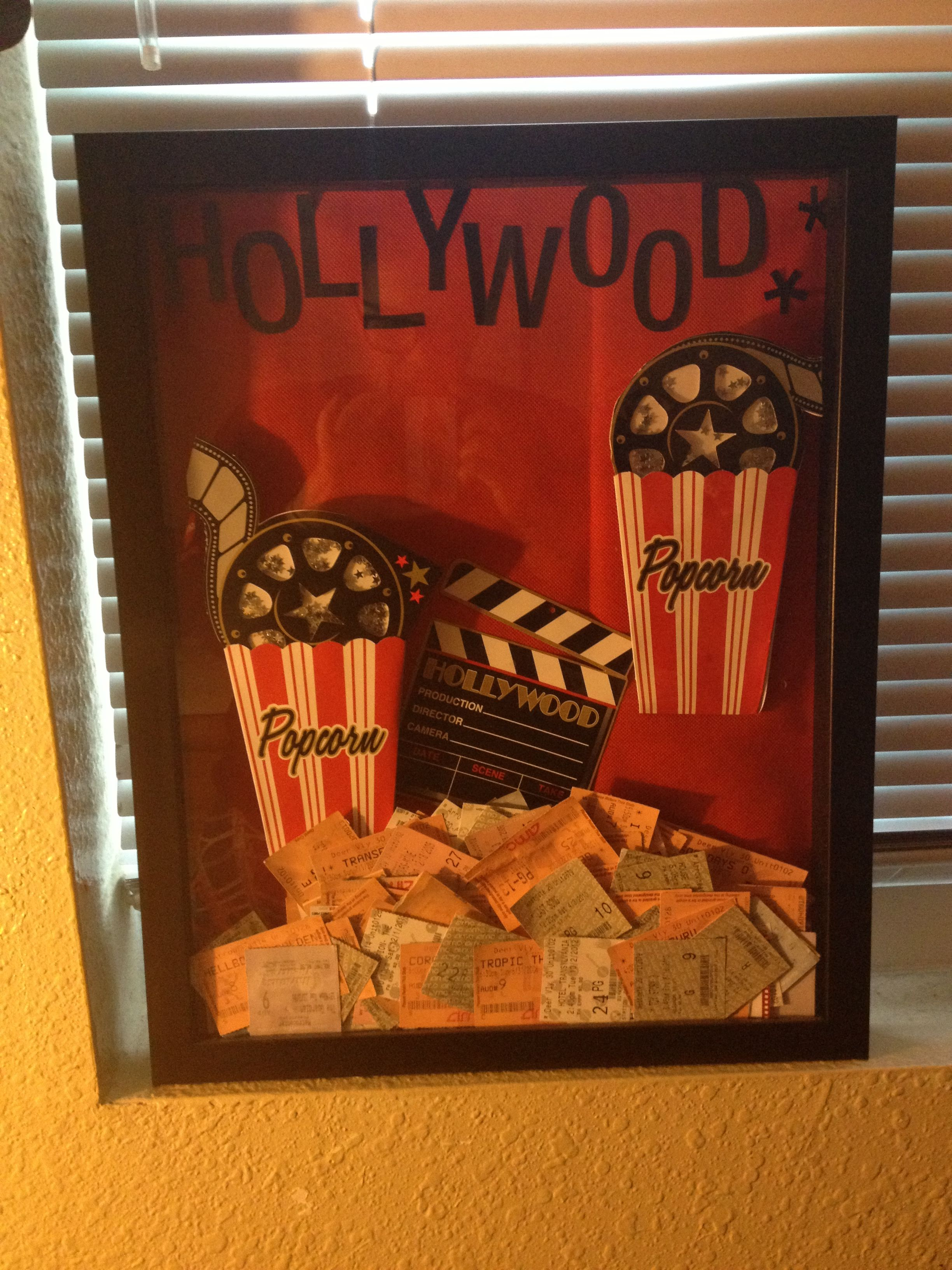 Decorative Shadow Boxes Decorative Shadow Box I Keep My Collected Ticket Stubs From Films