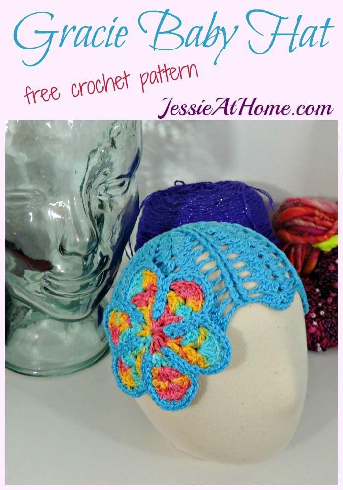 Gracie Baby Hat - free crochet pattern | Handarbeiten und Häkeln