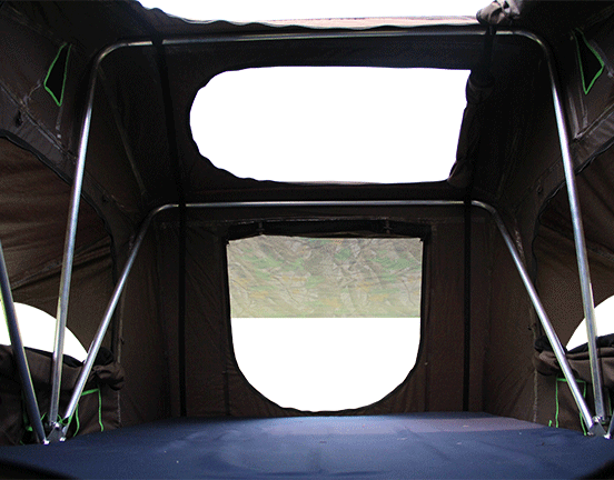 Cartt02 1 1 Roof Top Tent Is One Of The Toughest New Tents With Skylight On The Market People Can See 360 Degree Scenery Roof Top Tent Top Tents Roof Tent