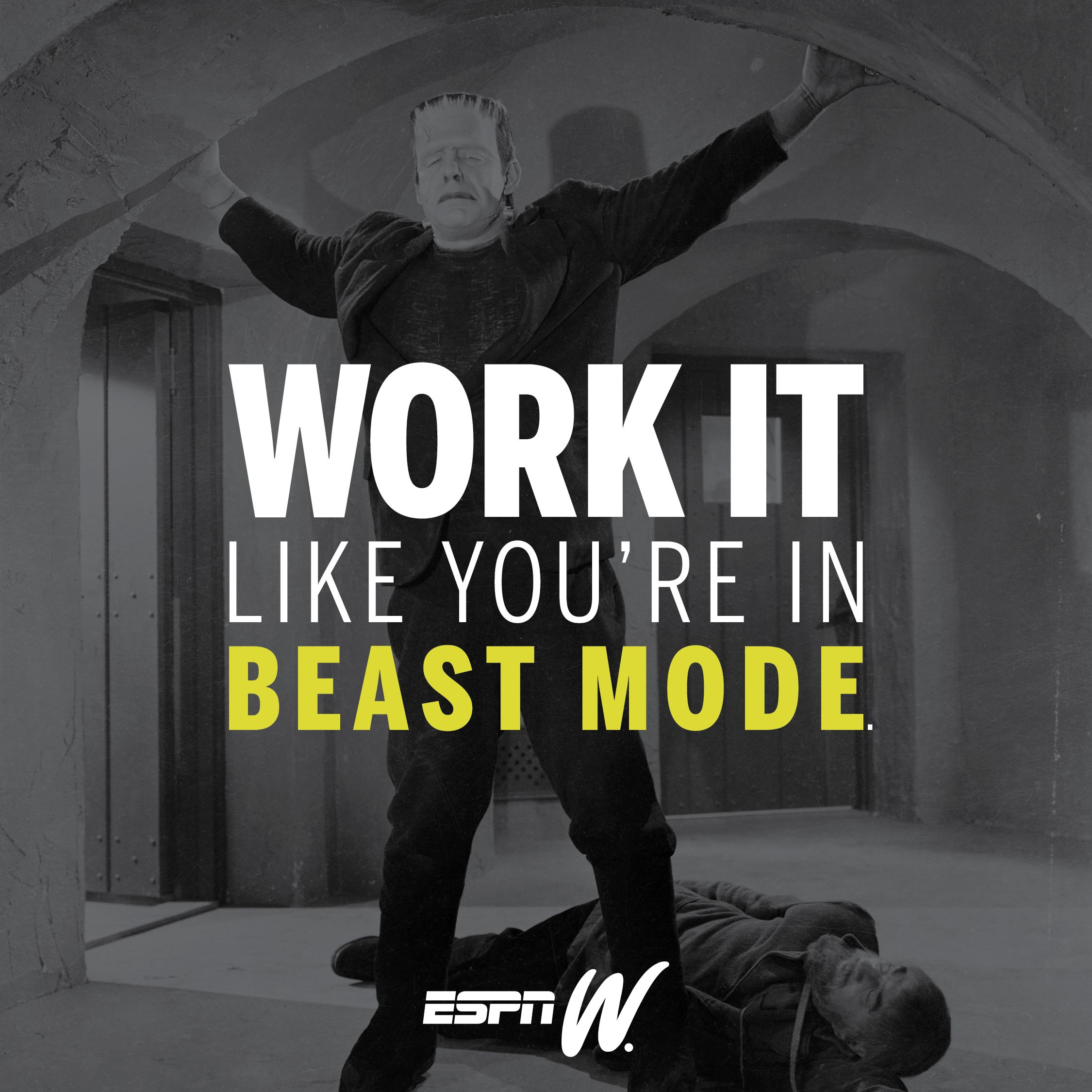 Work it like you're in beast mode. betfront.co sports