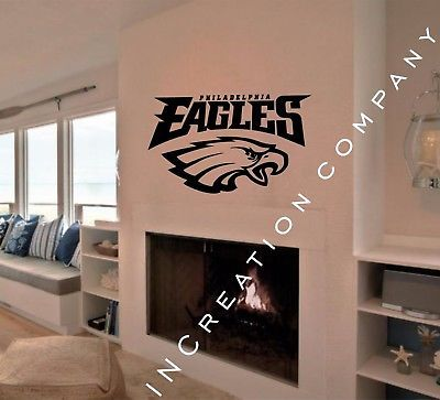 Philadelphia Eagles Wall Decor Vinyl Sticker Decal mural graphics football gift & Philadelphia Eagles Wall Decor Vinyl Sticker Decal mural graphics ...