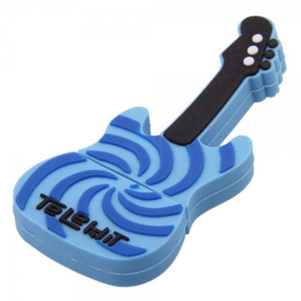 32GB Electric Guitar Shape USB Flash Drive Blue