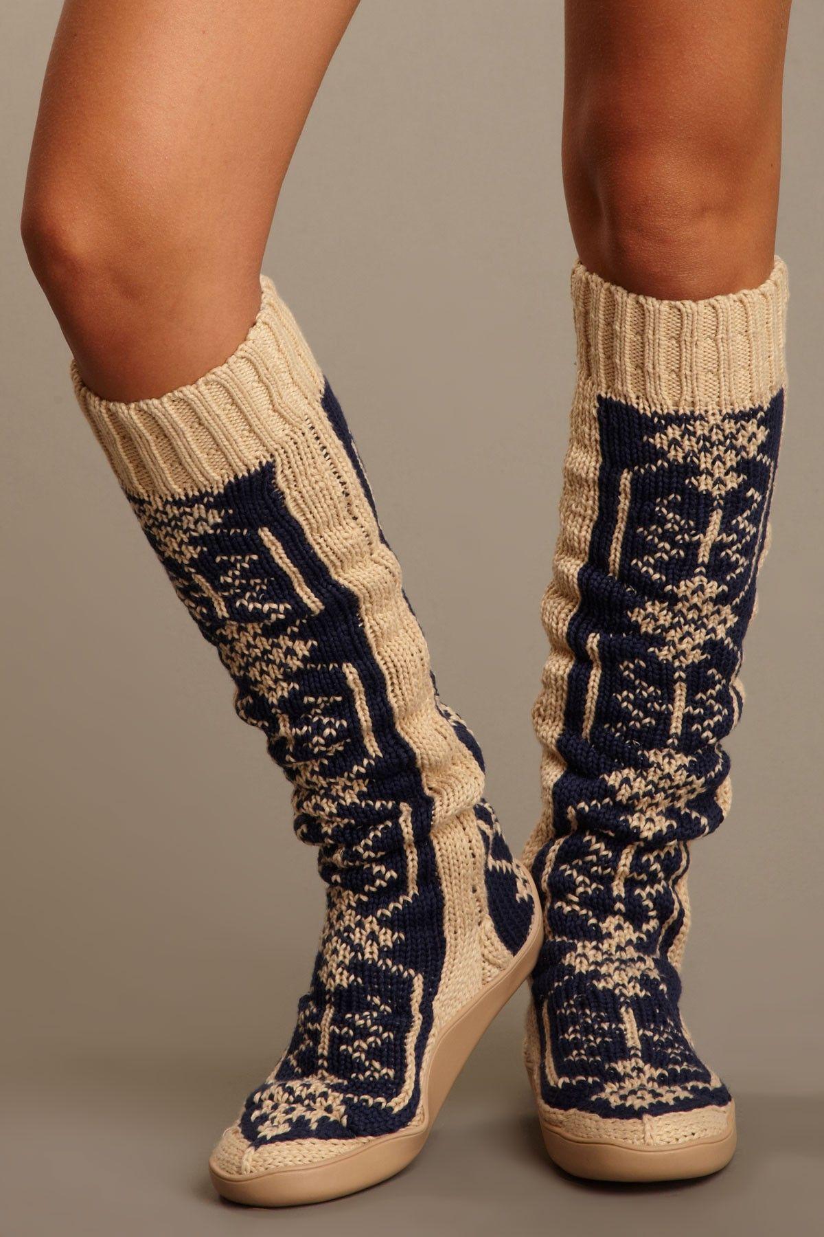 knit boot  4c7147b249d0