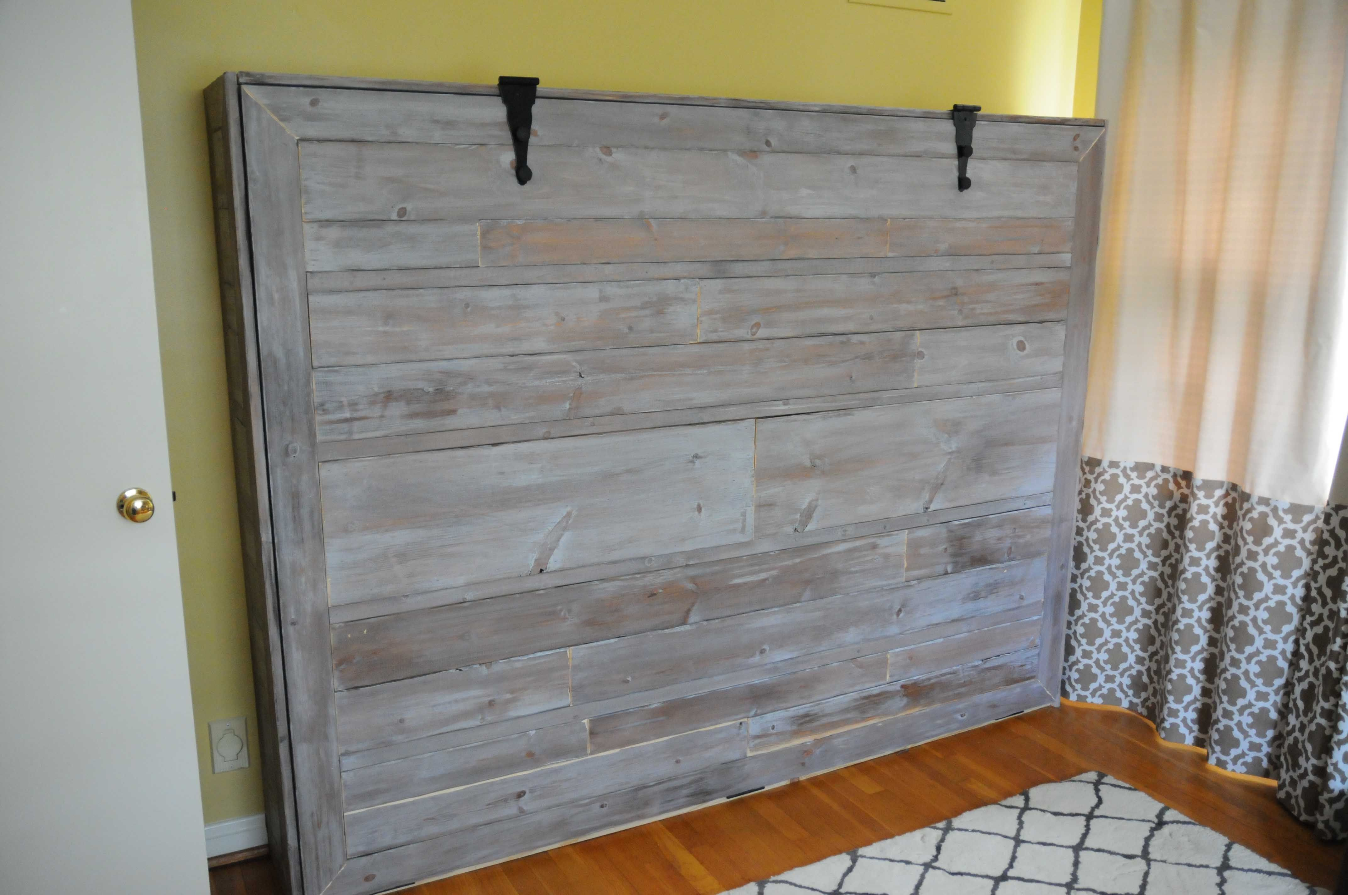 Rustic wall beds Rustic Queen Sized Wall Bed Do It
