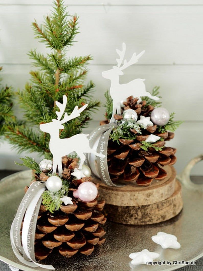 Photo of Pine cones table decoration