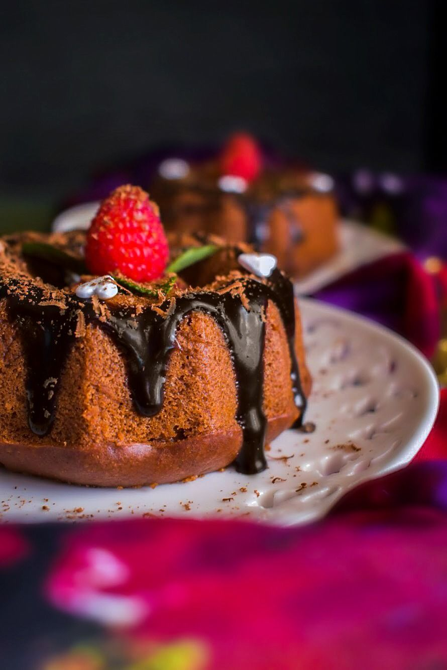 Mini chocolate bourbon olive oil cake these mini cakes