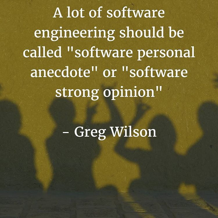 "A Lot Of Software Engineering Should Be Called ""software"
