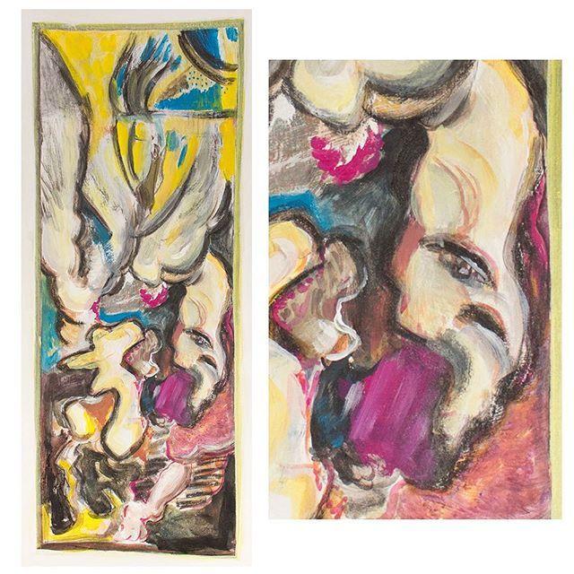 Ikarus, 2015⠀ ⠀ Falling... order to disorder, light to dark, figure to abstract...⠀ ⠀ #ikarus #mythology #contemporaryart #absctractart #painting #artist #artcologne #art #acryl #kölnkunst #malerei #sketch #arte #artwork #contemporary_art #contemporarycurator #artgallerie #drawing