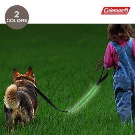 Coleman LED Light-Up Dog Leash with 3 Light Modes - Assorted Colors $10.00
