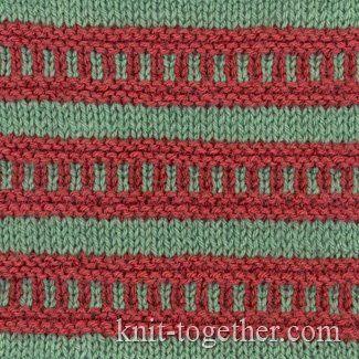 Multi-Color Stitch Pattern 1 | Slip stitch knitting ...