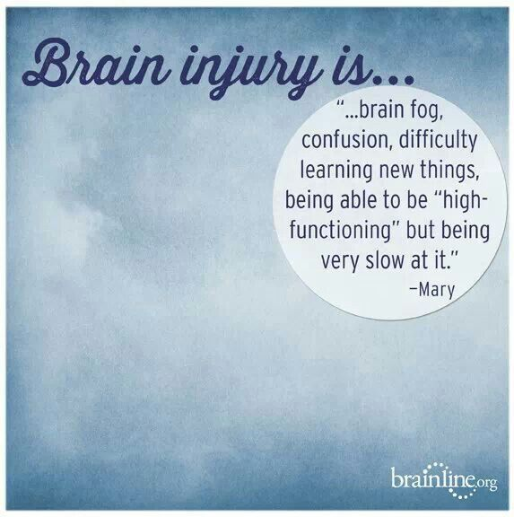 Traumatic Brain Injury Is TBI Pinterest Brain Injury Simple Concussion Quotes
