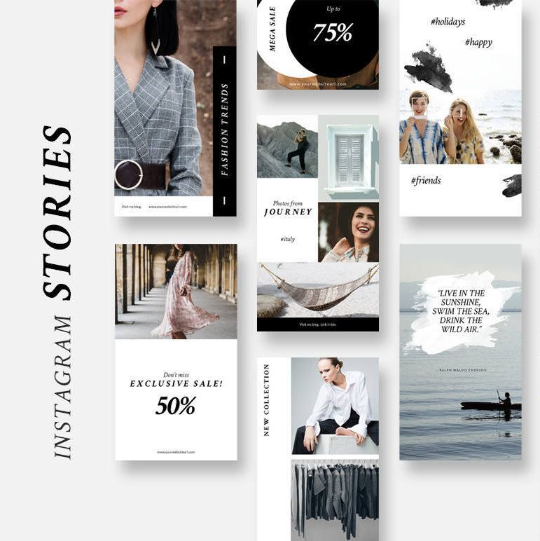 Instagram Stories Templates Social Media Pack Photoshop