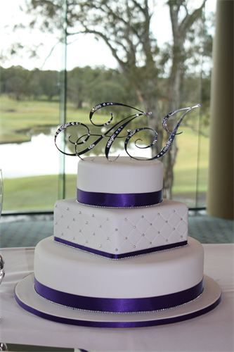 Amanda S Cakes And Invitations Wedding Cakes Purple White