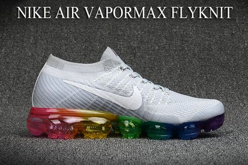 Nike Air VaporMax Amazing Nike Air VaporMax Flyknit White Colorful Shoe For  Discount