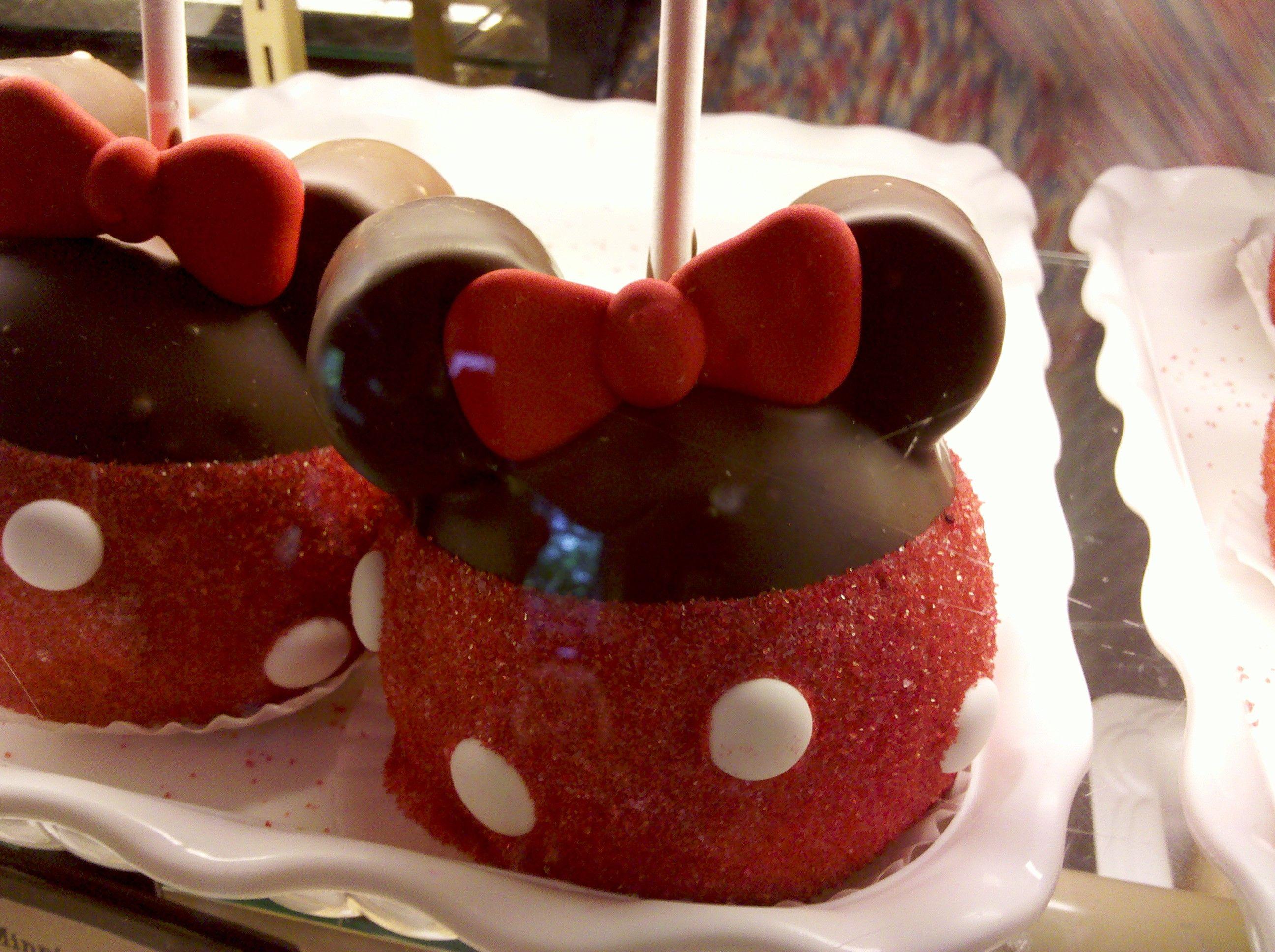 Minnie Mouse caramel apple - $9.95 at Disneyland!
