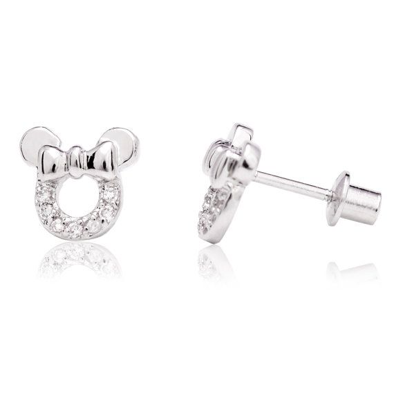 7b153260d White Gold Filled 18K Clear Crystal Minnie by ShopInSeasonJewelry ...