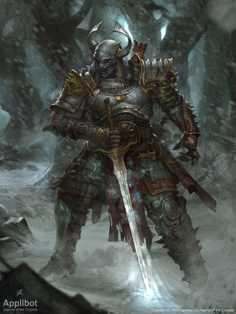 Artist: Changming Xu aka ChangMing - Title: Revenge of the Samurai reg - Card: Dušan, Revived Diety
