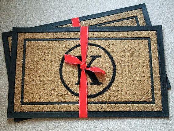 Personalized Monogrammed Doormat Monogrammed Door Mat