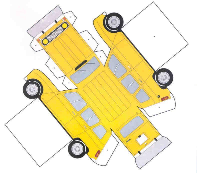Clásicos p/armar (sencillos) | Carro de papelão, Modelos de papel ...