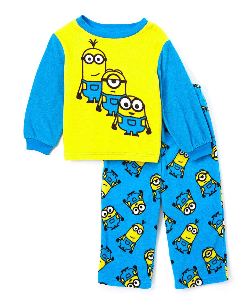 Despicable me blue yellow minions pajama set toddler yellow jpg 959x1152  Blue and yellow minions fdb17732ad40