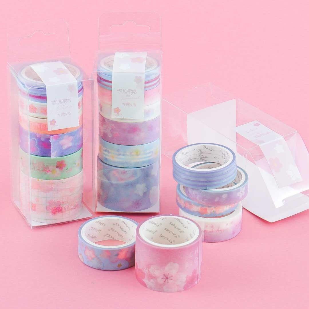 Kawaii School Supplies Masking Tape| Album Scrapbooking World Craft Office Desk Accessories Night Star Washi Tape Bullet Journal
