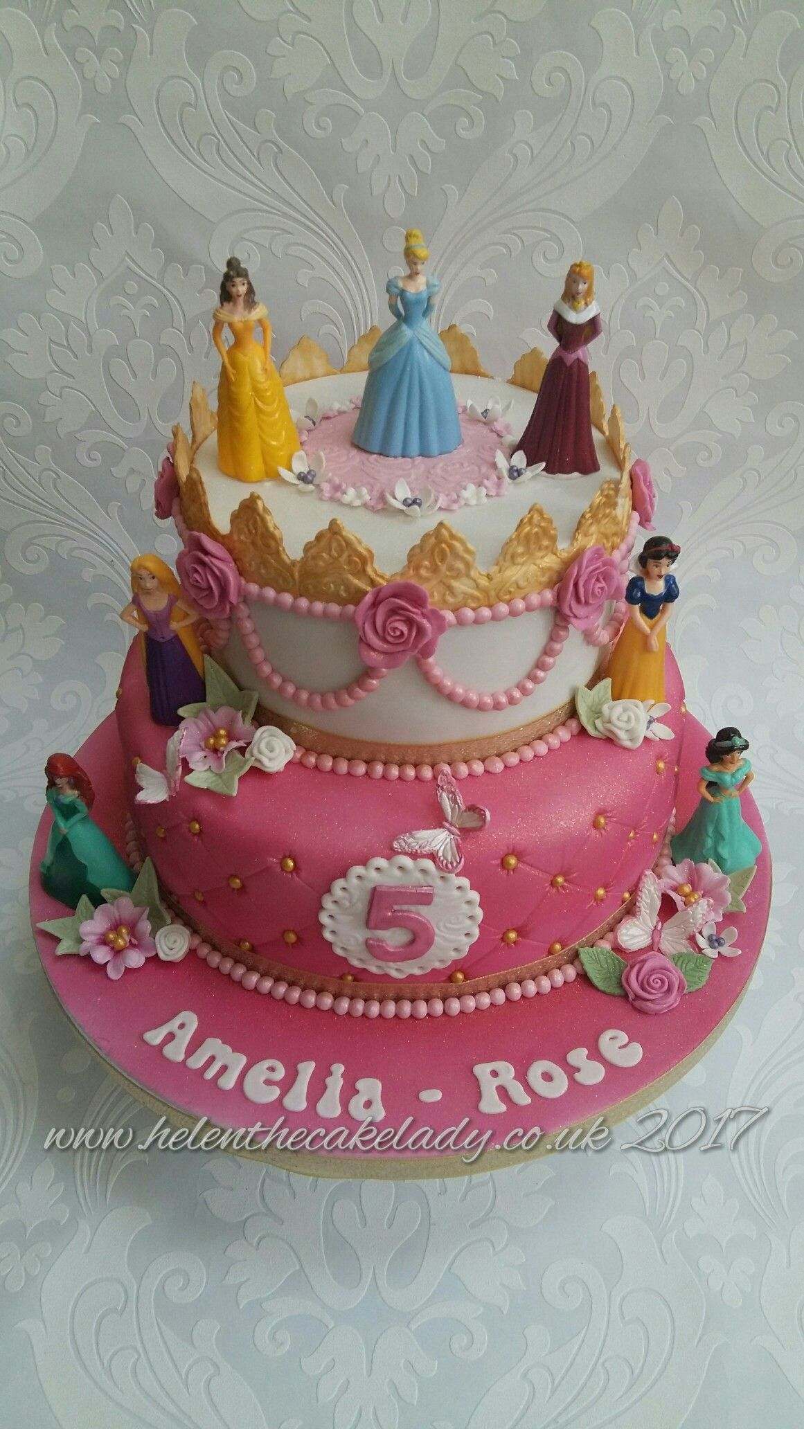Disney Princess 2 Tier Cake By Helen The Lady