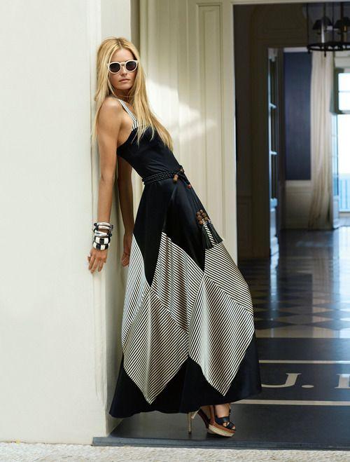 ralphlauren:  Ralph Lauren muse strikes a pose in Blue Label at the JK Place Capri Hotel