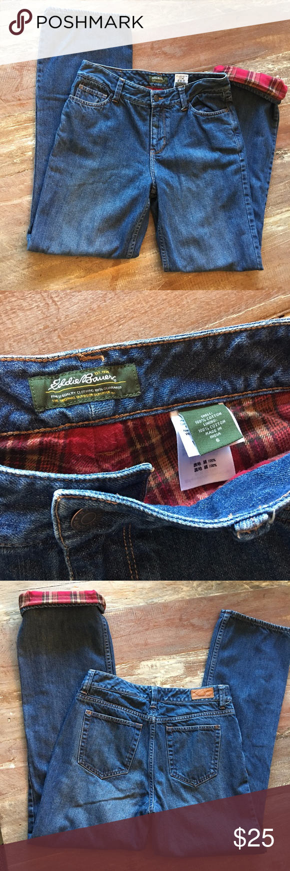 Eddie Bauer flannel lined jeans Stay snug and warm this