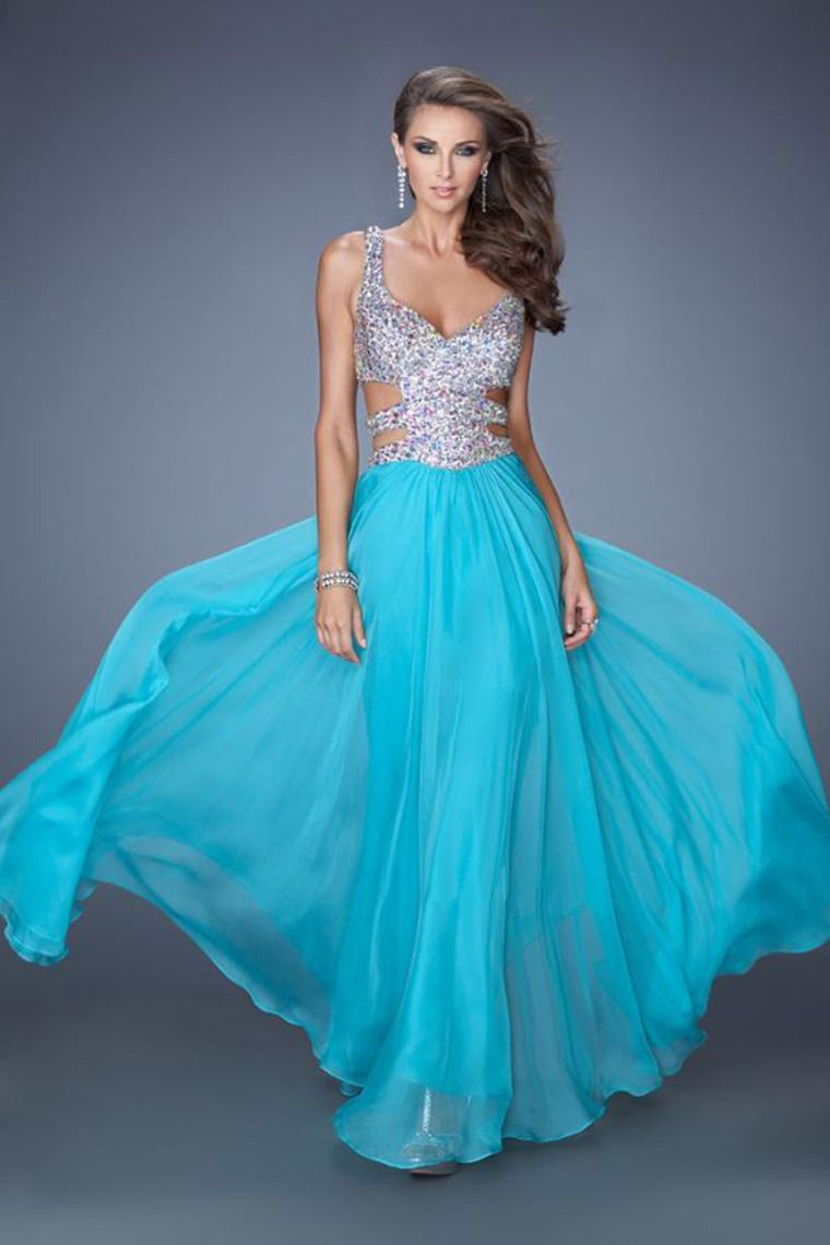 beaded sweetheart neckline dress with modified side cut outs