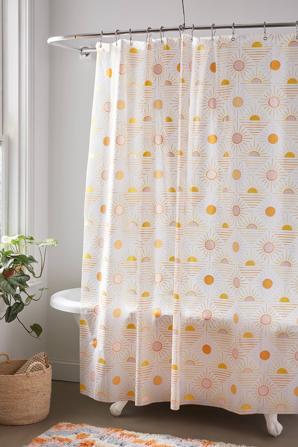 Sun Icon Peva Shower Curtain In 2020 Curtains Shower Curtain Urban Outfitters Curtains