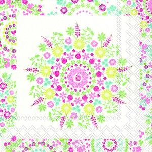 Lilly white pink Cocktail Napkins 240 ct