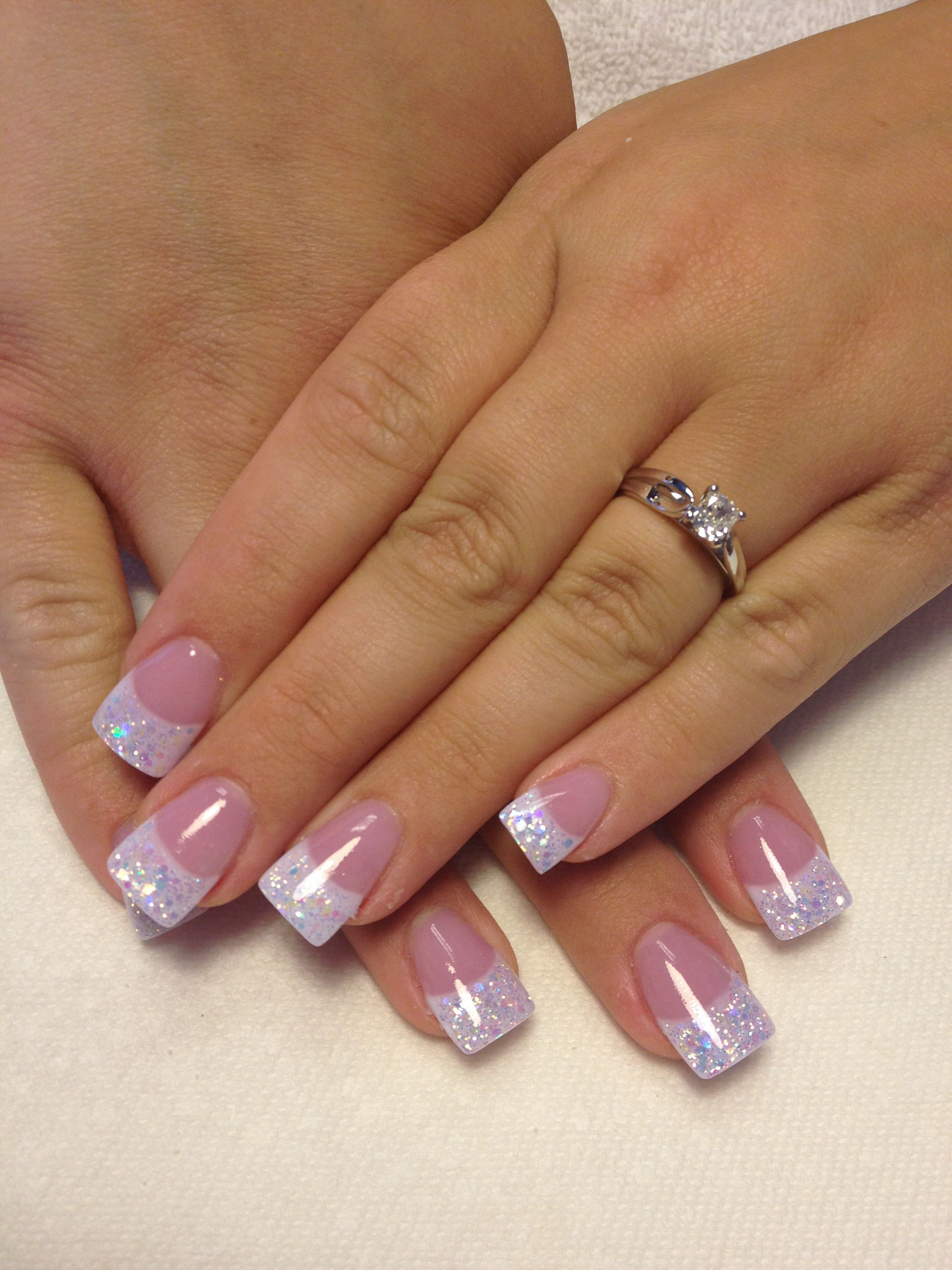 Sparkly pink and whites by Cathy Heine @ Curl Up and Dye ...