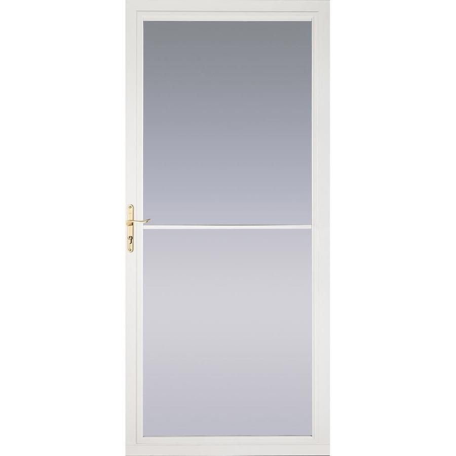 Pella Montgomery White Full View Aluminum Storm Door With