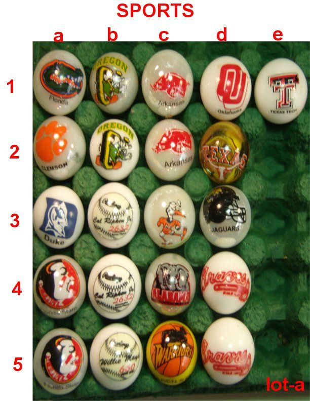 Logo marbles $4.00 each and please check first for avalibility