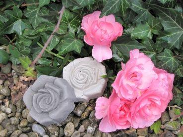 Beton Rose Grau Als Dekoration Geeignet Für Dekorationen Im Freien Oder Im  Haus. Die Rose