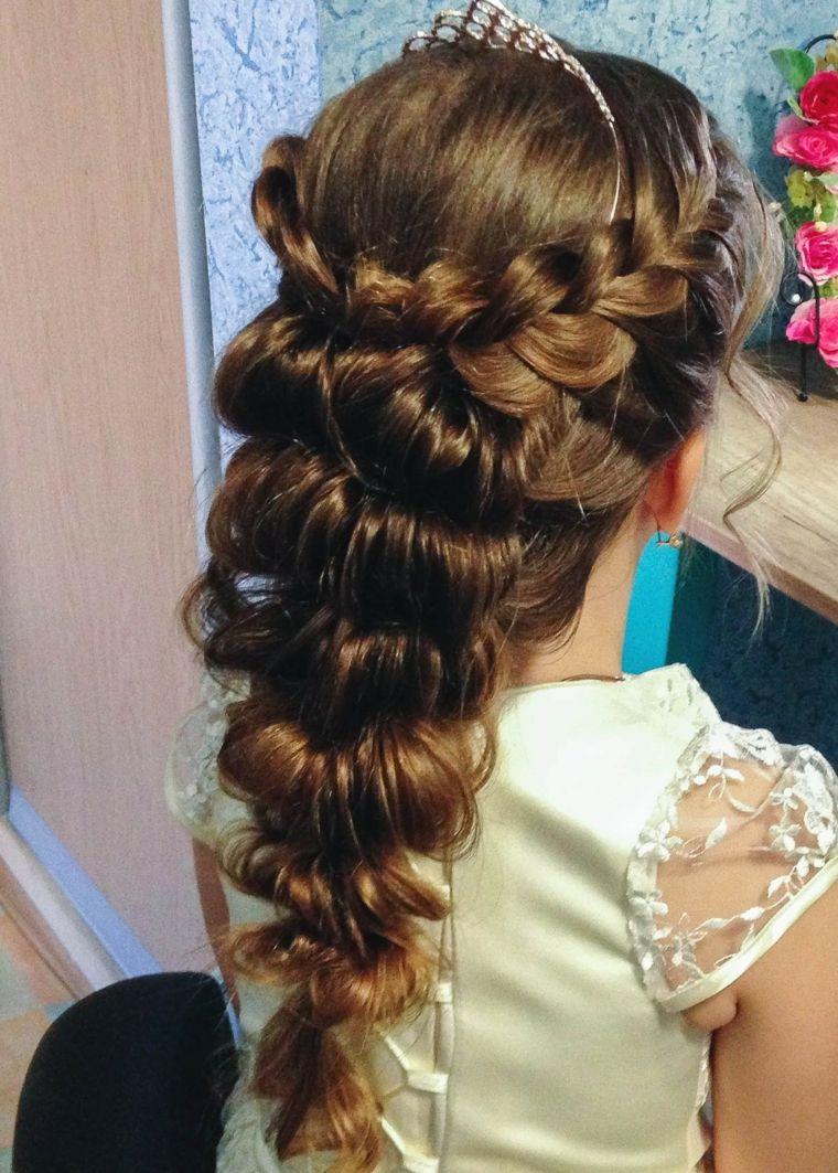 Peinados con pelo recogido modernos para niñas –  – Peinados