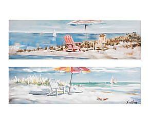 Set di 2 quadri in tela Relax - 120x60 cm