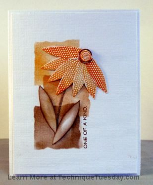 One Of A Kind Card featuring Petal Poser stamp set technique Tuesday