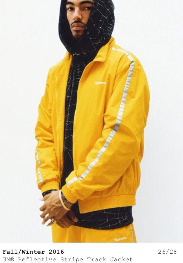 9a6bf2d892d Supreme Fall 16 yellow reflective jacket