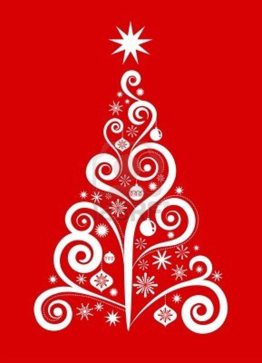 White Christmas Tree On Red Elegant Christmas Trees White Christmas White Christmas Tree