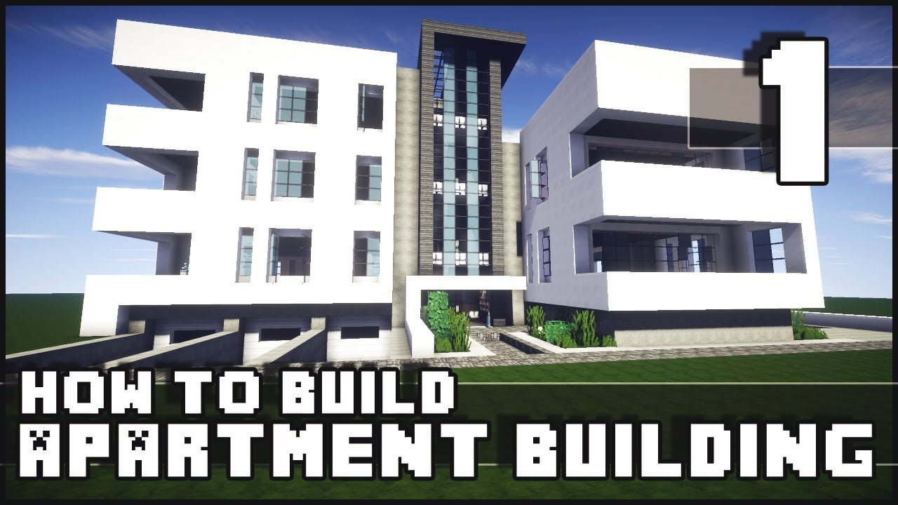 Minecraft How To Build Modern Apartment Building Part 1