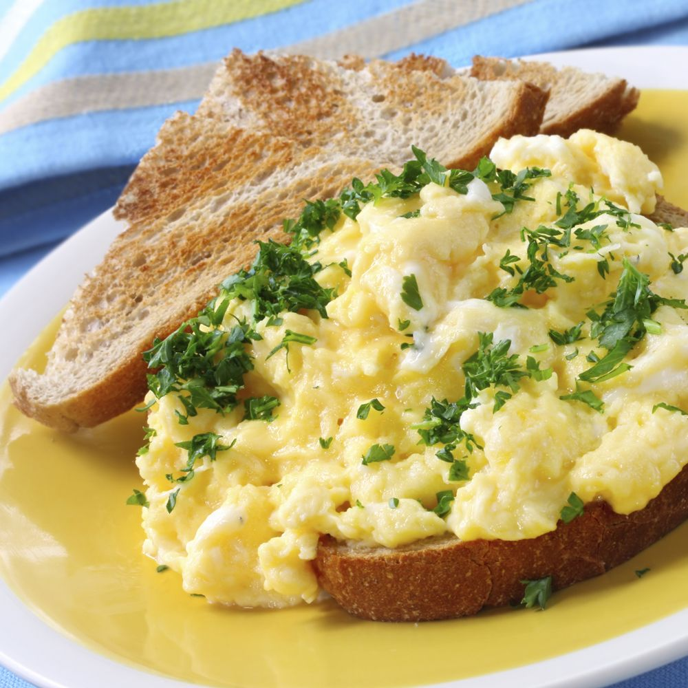 (250 Cal) Scrambled Eggs, High Protein Meals, High Protein