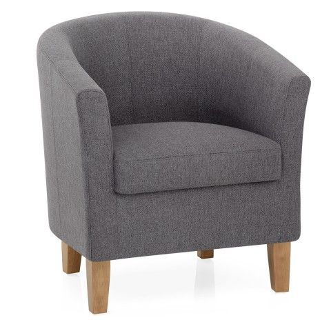 Simple and stylish, the Tub Chair Charcoal is the ideal cosy chair ...