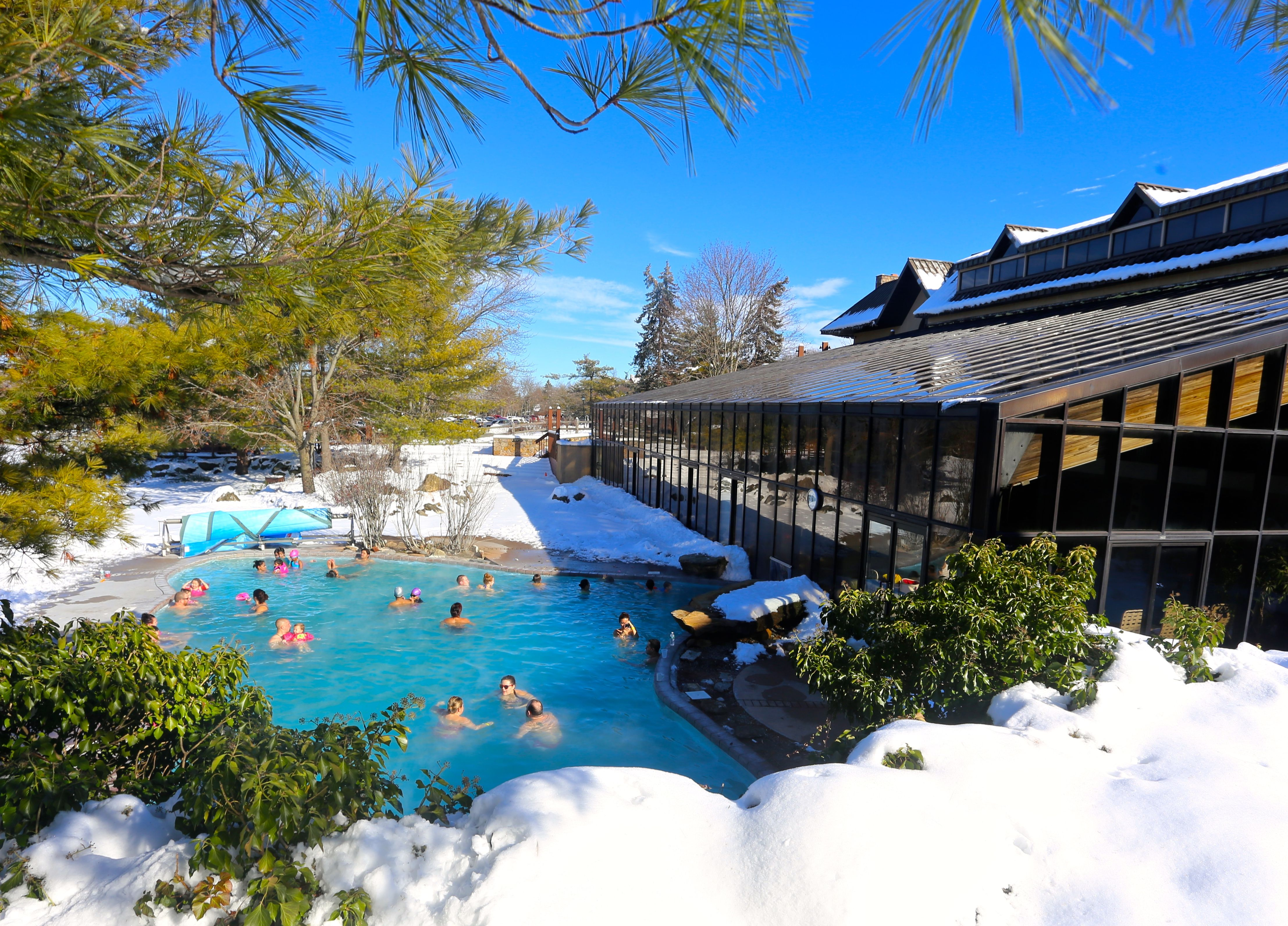 Amazing Outdoor Snow Pool at Minerals Hotel Outdoor