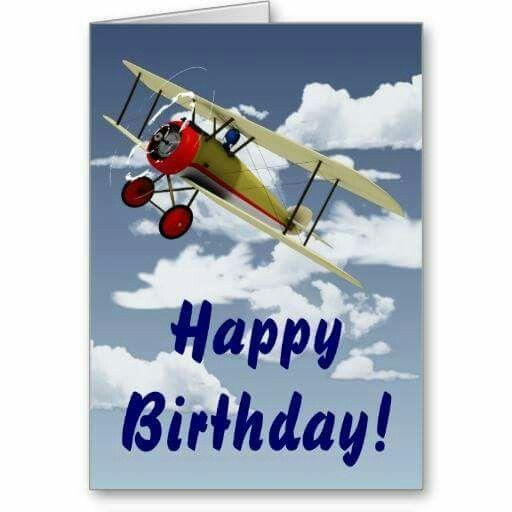 Plane Bday With Images Pilots Birthday Happy Birthday
