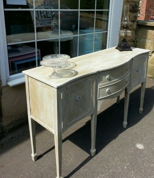 Lovely serpentine sideboard painted in Vintro Chalk Paint. Completed in clear and antique wax. Contact sales@vintro.co.uk information about stockists or paint.