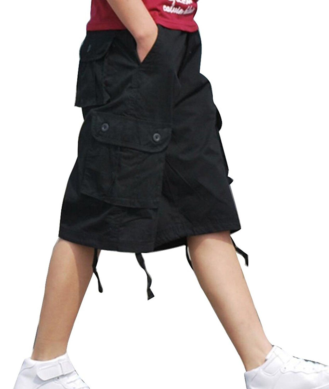 c81e0628a8 Abetteric Mens Basic Cotton Multi Pocket Loose Fit Rugged Cargo Shorts