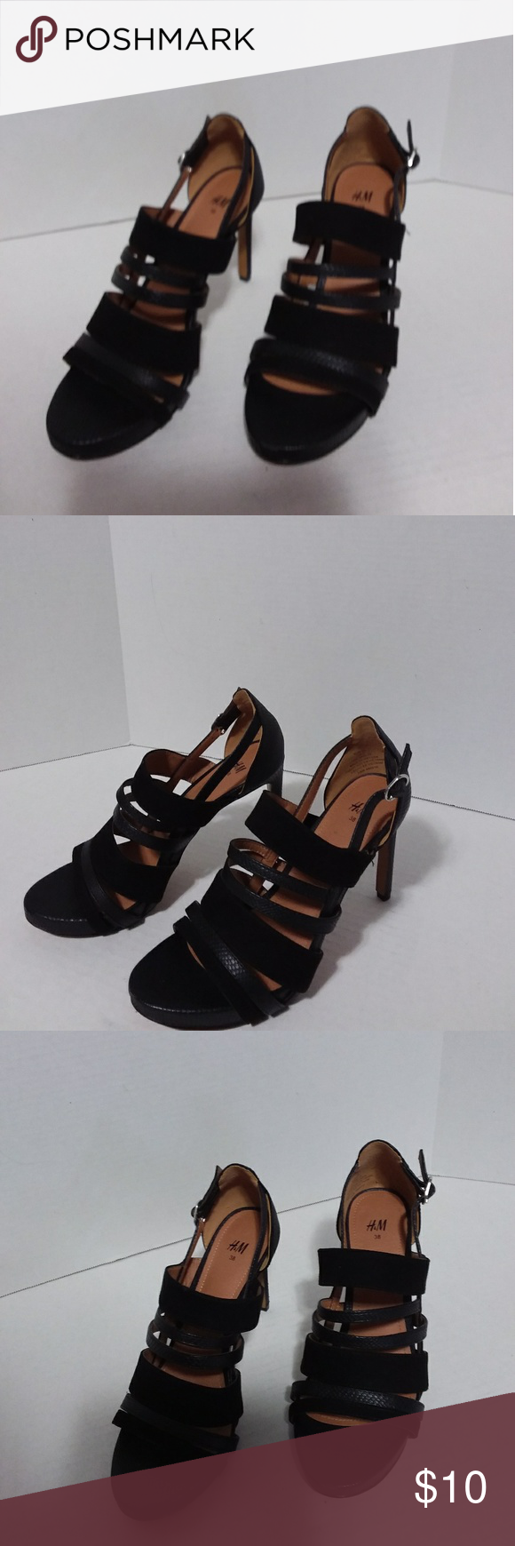 H and M black heels SZ 38(8) These are