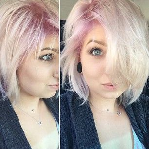 15 Surprisingly Gorgeous Ways To Rock Colorful Roots Short Platinum Hair Blonde Hair With Roots Hair Color Pastel